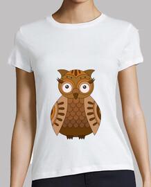 Búho marrón camiseta