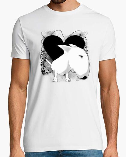 Camiseta Bull Terrier corazón vintage