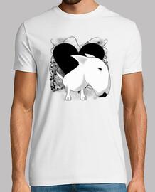 Bull Terrier corazón vintage