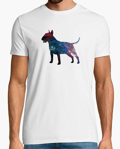 Camiseta Bull terrier galaxia