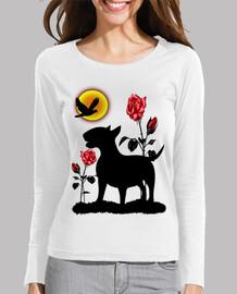 Bull terrier rosas