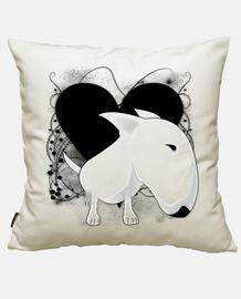 bull terrier vintage heart
