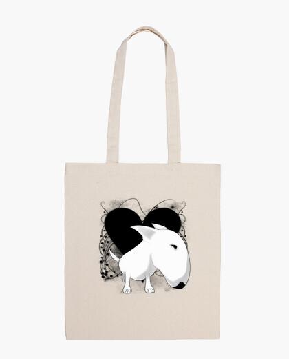 Bull terrier vintage heart bag