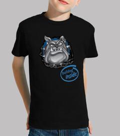 Bulldog - Niño, manga corta, negra