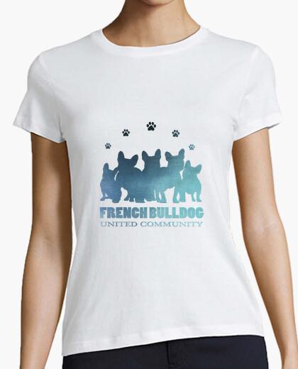 Camiseta Bulldog comunidad unida Turquesa
