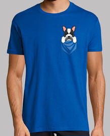 Bulldog Francés Blanco Negro Bolsillo