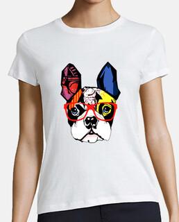 Bulldog Francés con gafas rojas