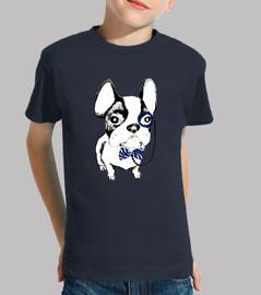 Bulldog frances con monoculo