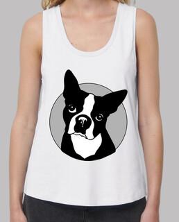 bulldog francese modello bianco senza spalline