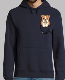 bulldog inglés lindo bolsillo - sudadera con capucha