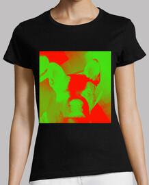 Bulldog verde rojo chica