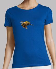 Bumblebee flying-Abejorro en vuelo.