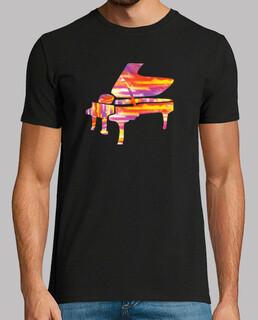 buntes klavier t-shirt