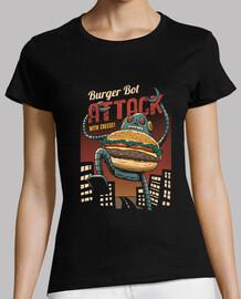 Burger Bot Shirt Womens