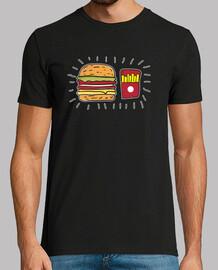 burger und pommes - hamburger und pommes
