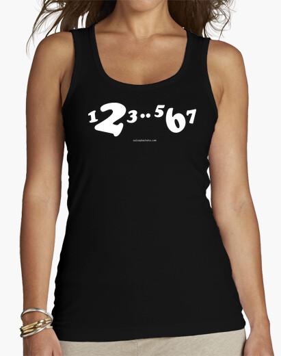 Tee-shirt bustier  tee shirt  blanche 1,2,3..5,6,7