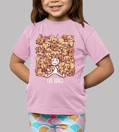 buts de la vie - chemise d'enfants