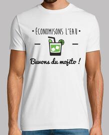 Buvons du mojito ! Tee shirt humour,alcool,citations