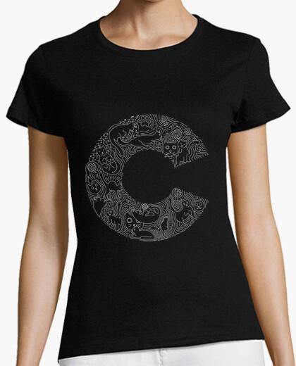Camiseta 'C' is for 'Cats' Blanco