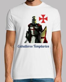 Caballero Templario y Cruz de la orden del Temple