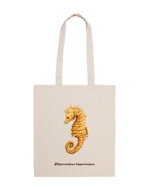 Caballito de mar Hippocampo bolso tela