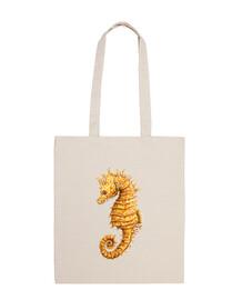Caballito de mar hippocampus bolso bandolera