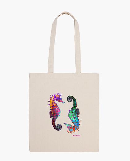 Caballitos, Bolsa de tela, color natural