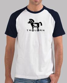 Caballo de troya. camiseta azul.