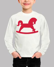 caballo mecedor rojo
