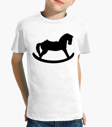 Ropa infantil caballo mecedora negro