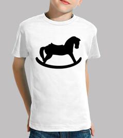 caballo mecedora negro