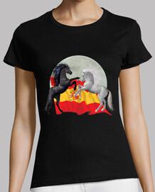 Caballos, luna y bandera España