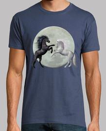 Caballos y luna