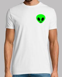 cabeza alienígena verde