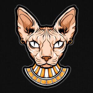 Camisetas Cabeza de gato egipcio sphynx