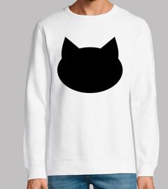 cabeza de gato negro