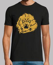 cabeza de león dorado
