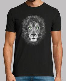 Cabeza de león. Ojos verdes