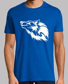 Cabeza de lobo tribal