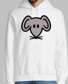 cabeza de ratón gris