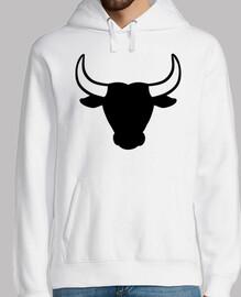 cabeza de toro negro