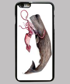 cachalot et le manchon calmar géant (ma physeter