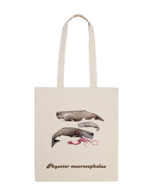 cachalotes bag tela 100 cotone