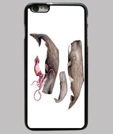 Cachalotes Funda iPhone 6 Plus, negra