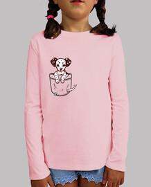 cachorro de dalmation de bolsillo - camisa de niños