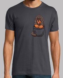 cachorro de mastín tibetano de bolsillo - camisa de hombre