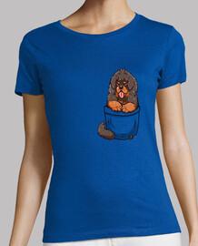cachorro de mastín tibetano de bolsillo - camisa de mujer