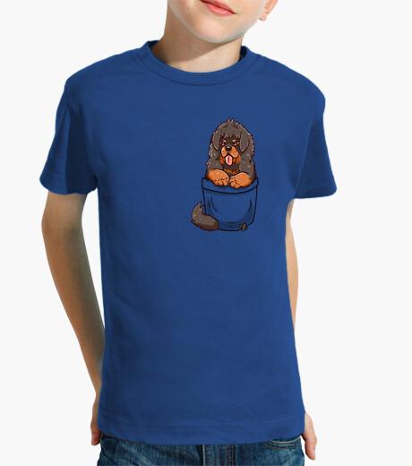 Ropa infantil cachorro de mastín tibetano de bolsillo - camisa de niños