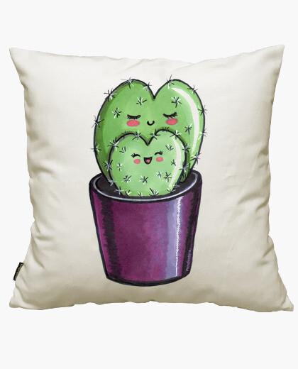 Housse de coussin cactus coeur de maman