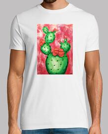 Cactus fondo rosa